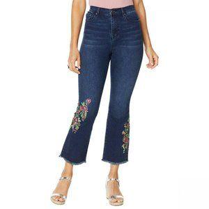NWT DG2 Flare Crop Jeans 22W Petite Indigo
